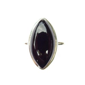 Black Onyx Marquise Ring.