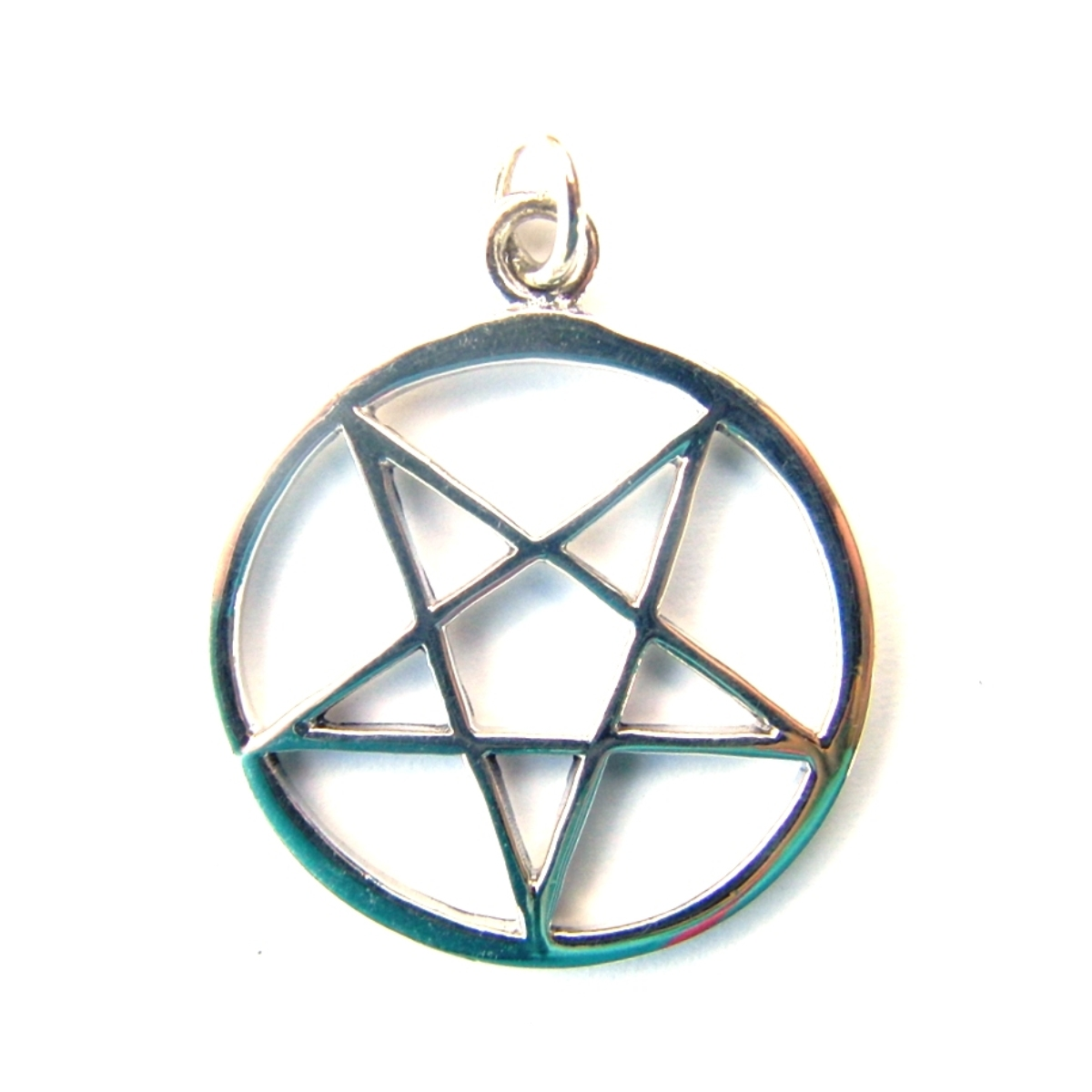 Inverted pentagram pendant silver jewellery cavern wholesale inverted pentagram pendant aloadofball Choice Image