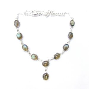 Labradorite Large Oval Necklace.