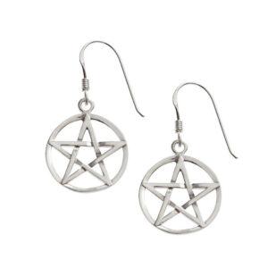 Large Pentagram Earrings