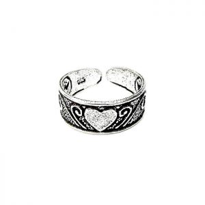 Lovely Silver Heart Toe Ring