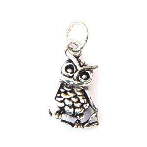 Small 3d Owl Pendant