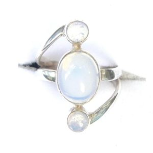 Opalite Triple Drop Ring.