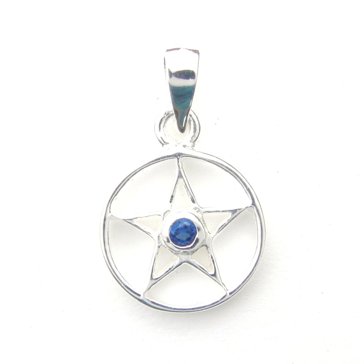 Lovely Crystal Pentagram Pendant