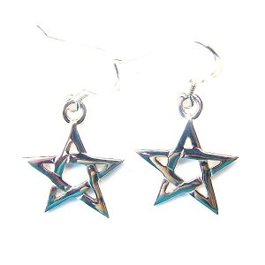 Medium Pentagram Earrings.