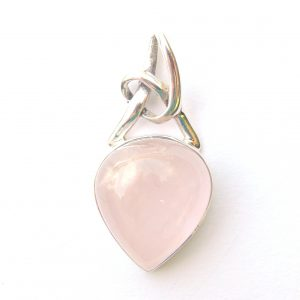 Rose Quartz Knot Pendant.