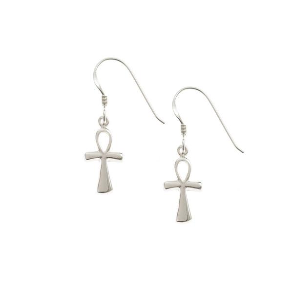 Ankh Silver Earrings.