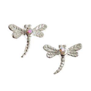 Pretty AB Dragonfly Studs