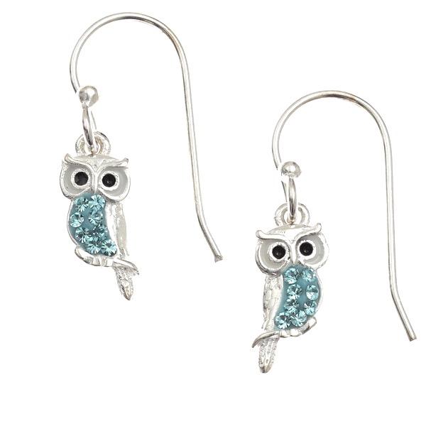 Pretty Aqua Owl Earrings.