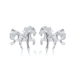 Beautiful Silver Unicorn Studs.