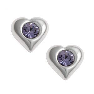 Tanzanite Heart Earrings