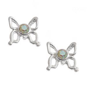 Pretty AB Butterfly Studs