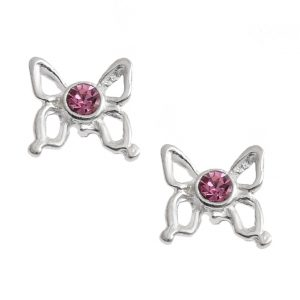 Pretty Rose Butterfly Studs