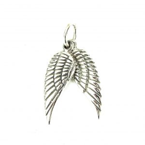 Silver Double Wings Pendant.