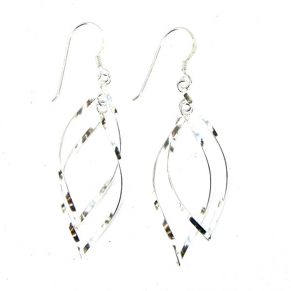 3a6dfb817 Twisted Double Drop Earrings - Silver Jewellery Cavern Wholesale
