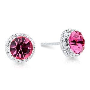 Pretty Rose Crystal Studs