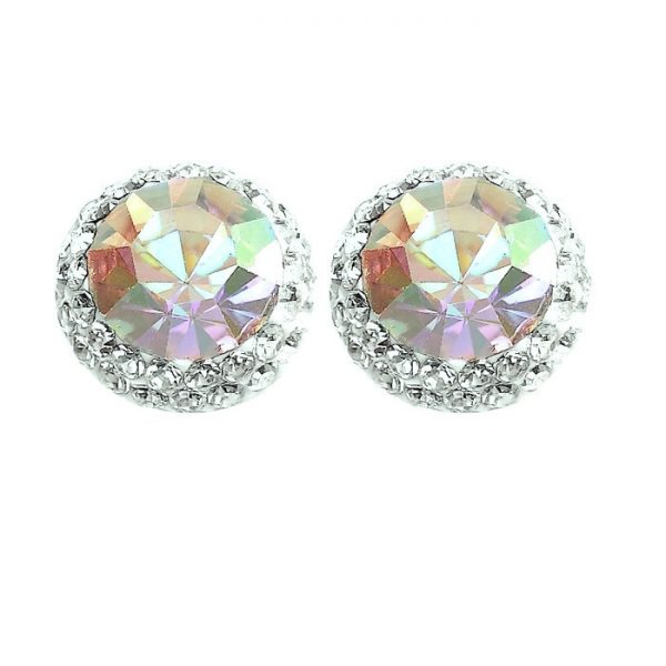 70c52bb5f Pretty AB Crystal Earrings - Silver Jewellery Cavern Wholesale