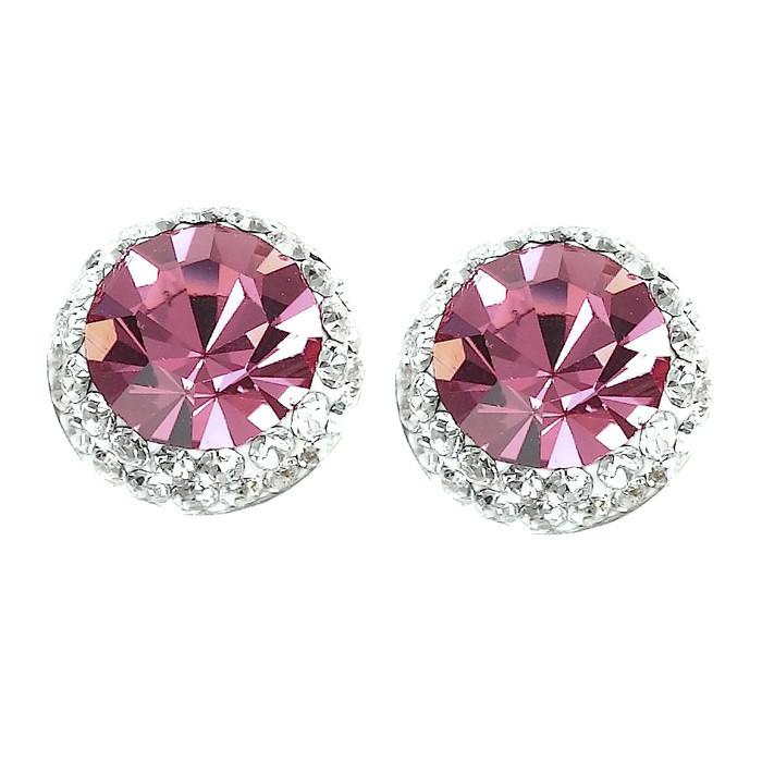 Pretty Rose Crystal Earrings