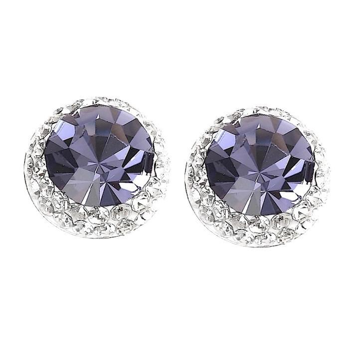 Pretty Tanzanite Crystal Earrings