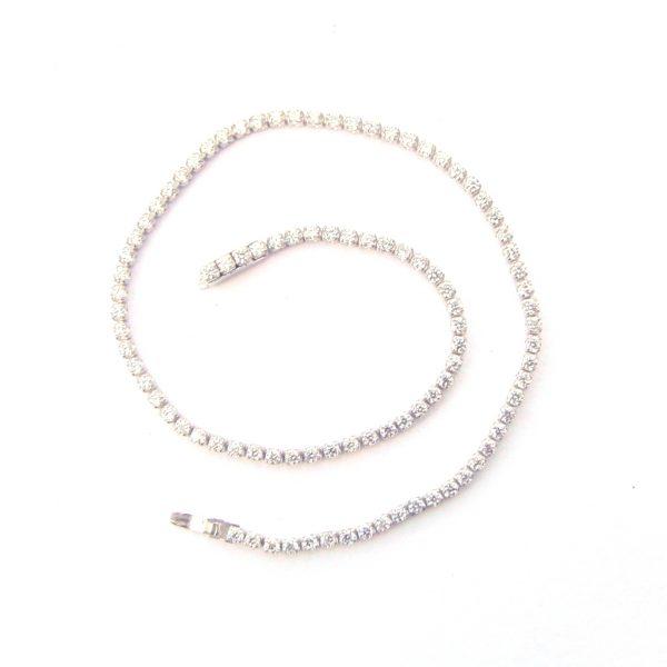 Single Silver Tennis Bracelet