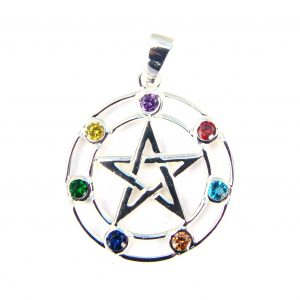 Chakra Pentagram Crystal Pendant