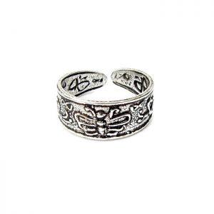 Beautiful Silver Butterfly Toe Ring