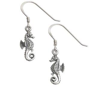 Dainty Seahorse Earrings
