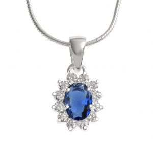Pretty Sapphire Crystal Pendant.