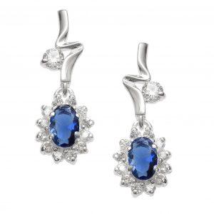 Pretty Sapphire Crystal Stud Earrings
