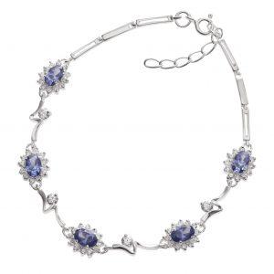 Pretty Tanzanite Crystal Bracelet.