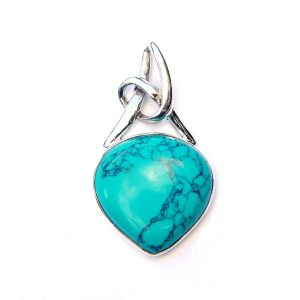 Turquoise Small Knot Pendant