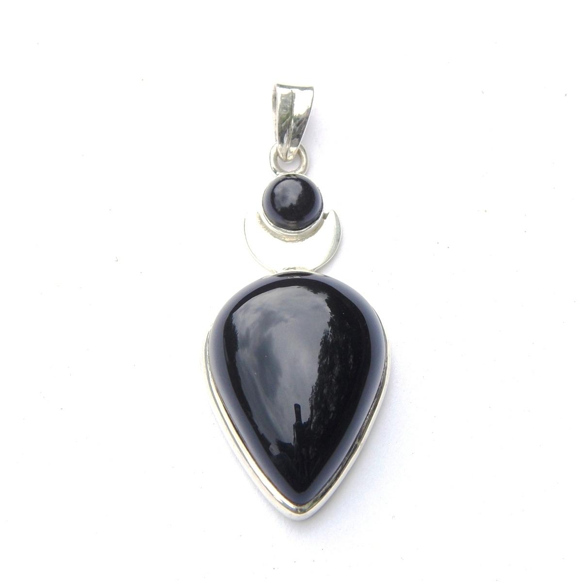 Black Onyx Large Goddess Pendant.