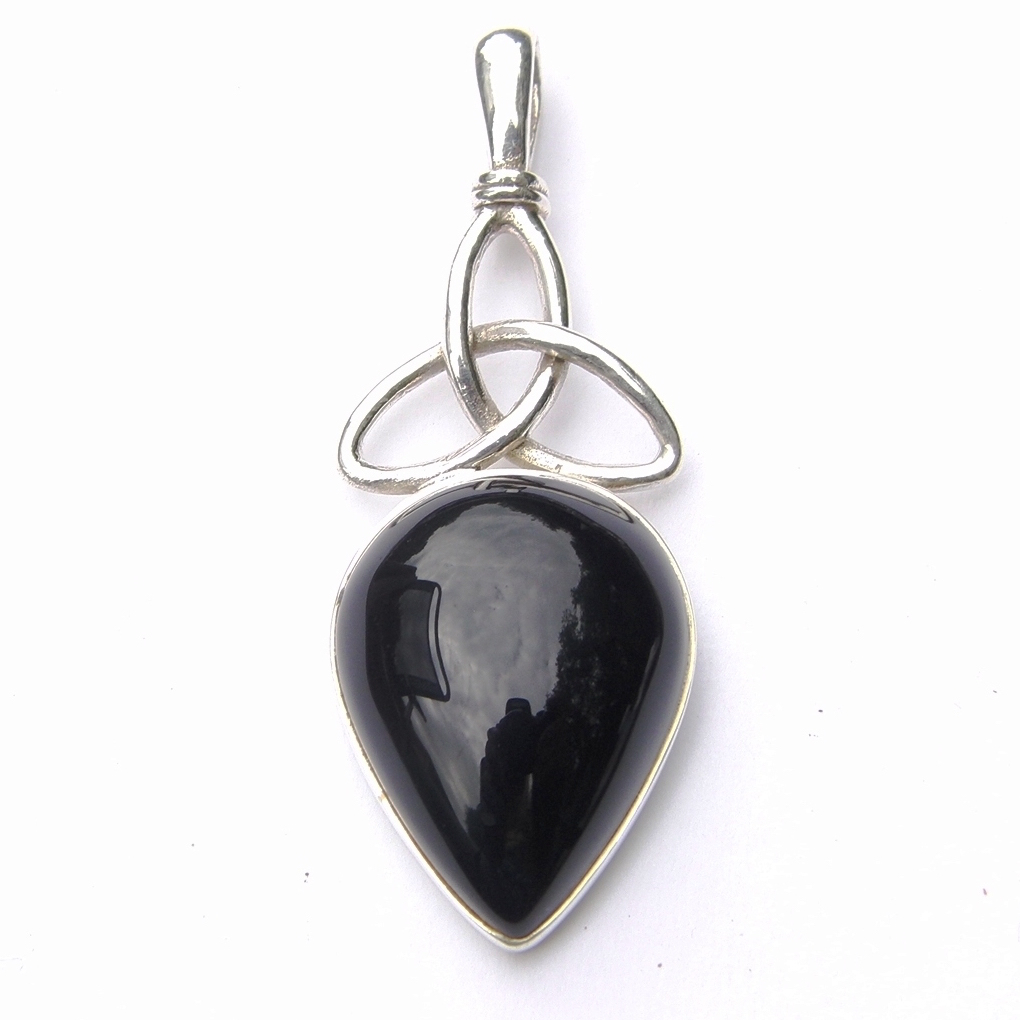 Pretty Black Onyx Triquetra Pendant