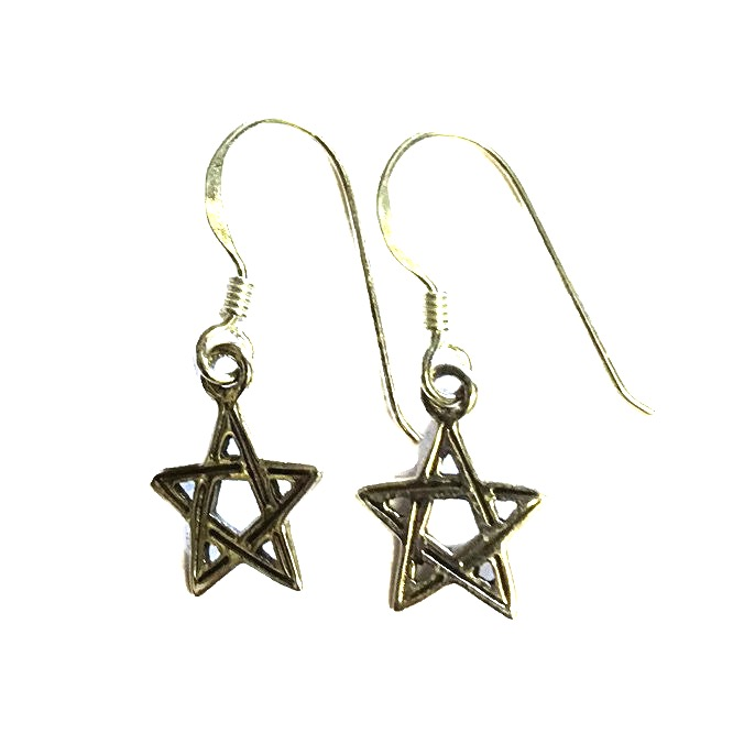 Dainty Double Sided Pentagram Earrings