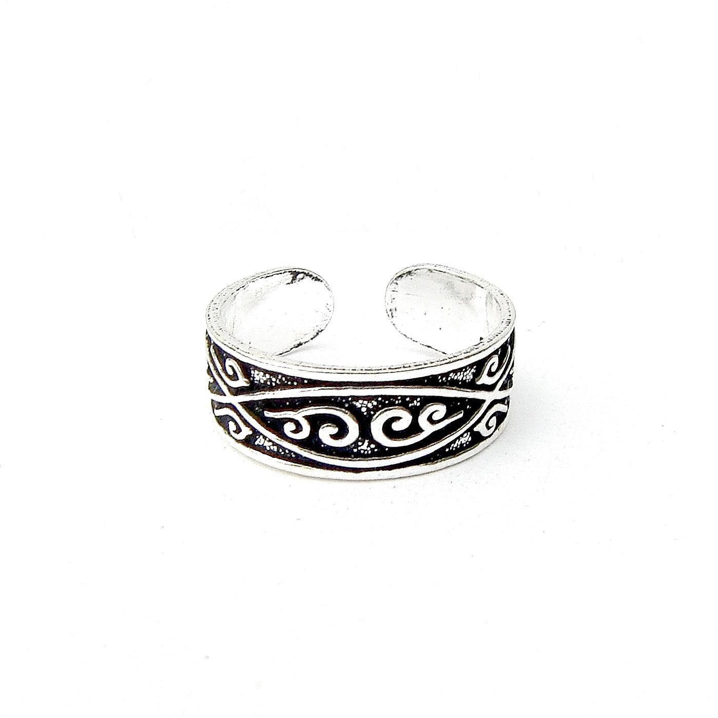 Beautiful Patterned Toe Ring