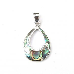 Beautiful Abalone Silver Pendant.