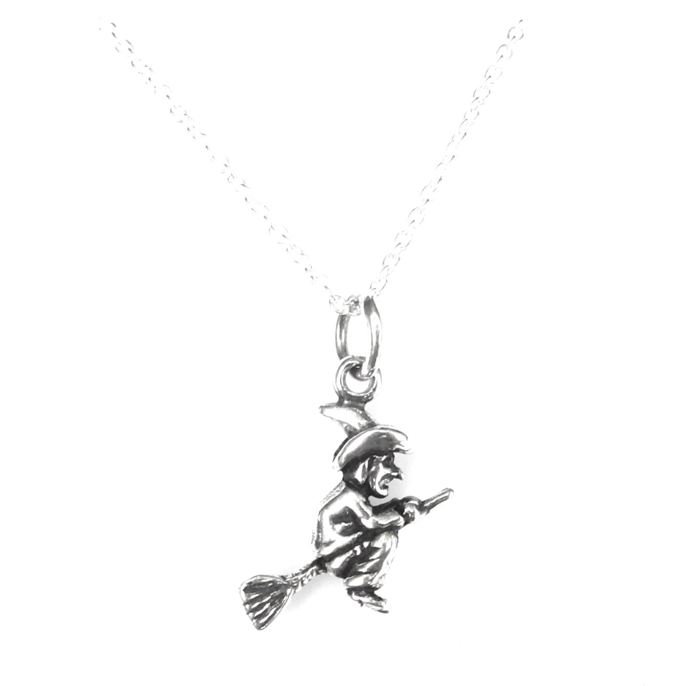 Amazing Flying Witch Necklace