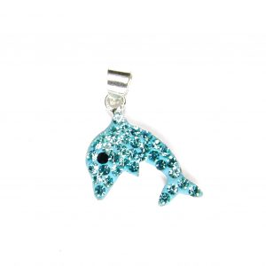 Beautiful Aqua Dolphin Pendant.