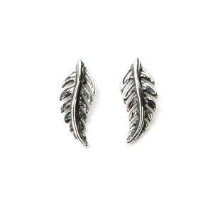 Beautiful Silver Feather Studs.