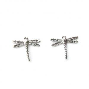 Beautiful Silver Dragonfly Studs.
