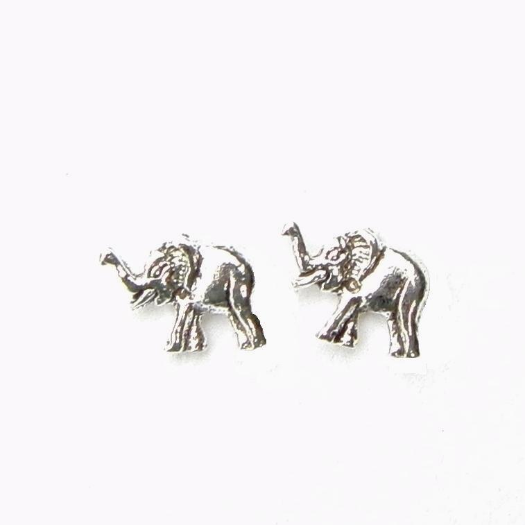 Beautiful Silver Elephant Studs.