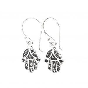 Dainty Fatima's Hand Earrings