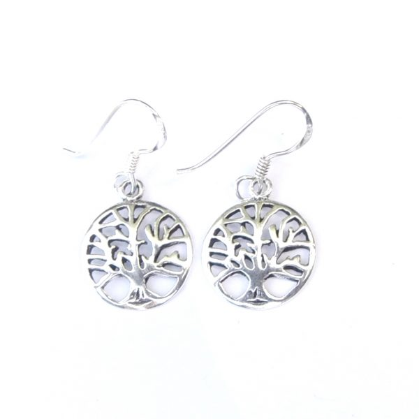 452dba675 Dainty Tree of Life Earrings - Silver Jewellery Cavern Wholesale