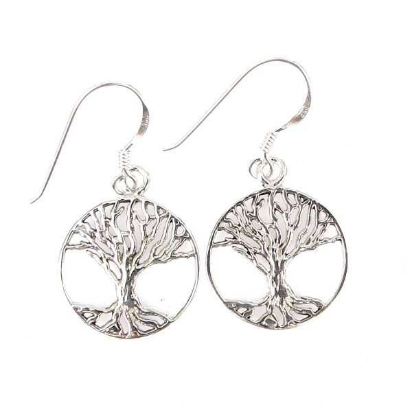813ac5523 Large Tree of Life Earrings - Silver Jewellery Cavern Wholesale