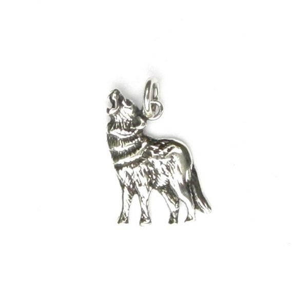 Lovely Howling Wolf Pendant