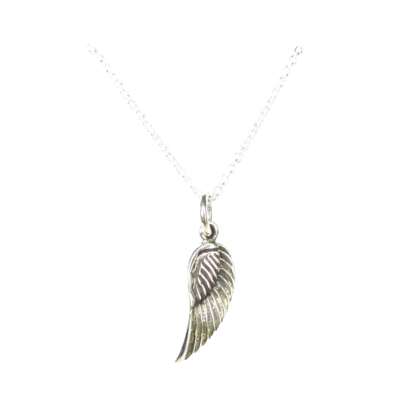 dainty angel wing necklace silver jewellery cavern wholesale