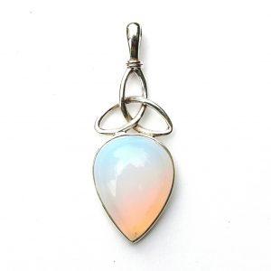 Pretty Opalite Triquetra Pendant