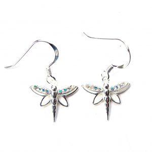 Beautiful AB Dragonfly Earrings