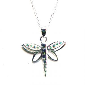Beautiful AB Dragonfly Necklace
