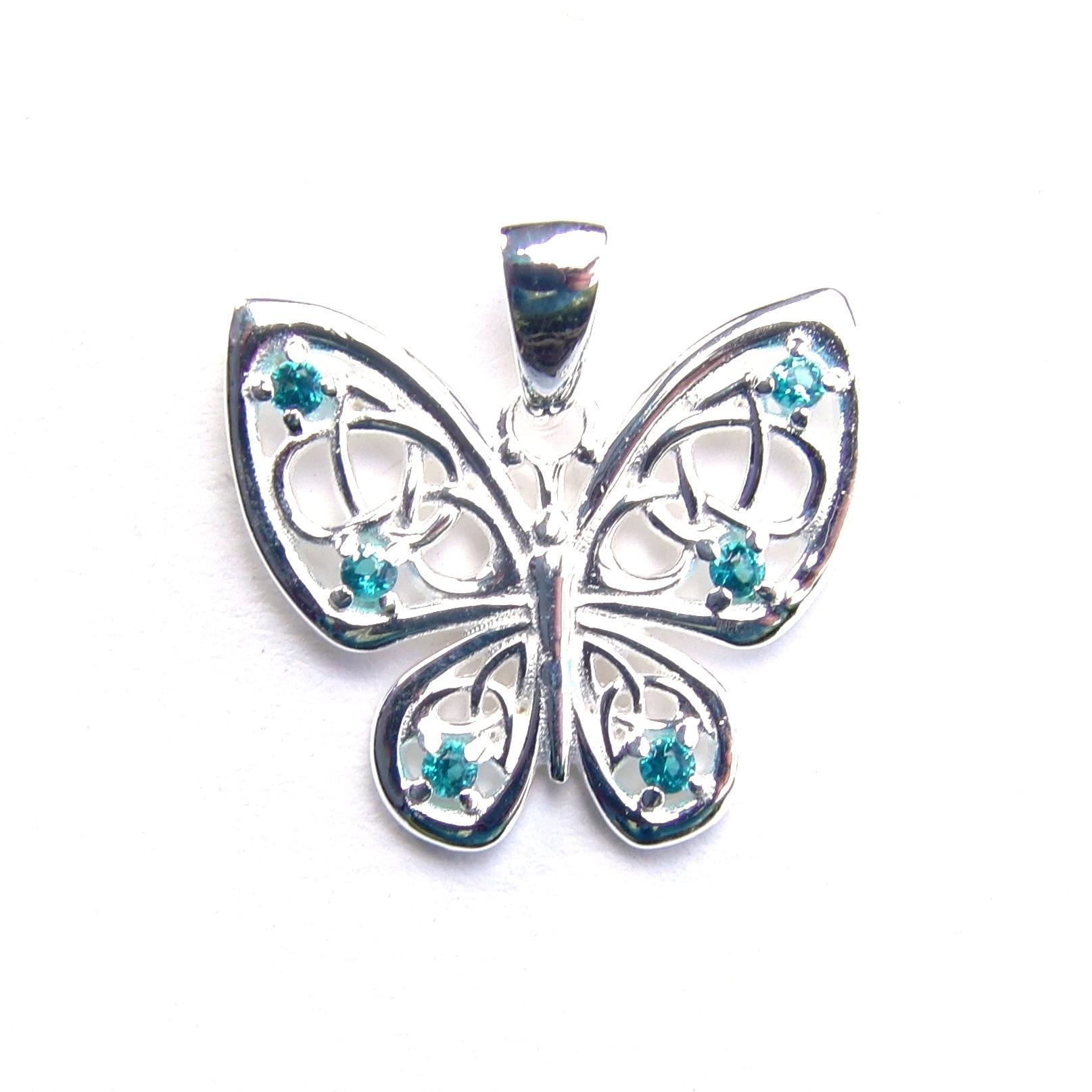 Beautiful Aqua Butterfly Pendant.